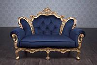 """Диван в стиле Барокко, диванетка """"Изабелла"""" под заказ от производителя. Двухместный диван во французском стиле"""