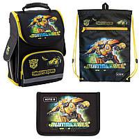 Набор первоклассника рюкзак, сумка для обуви, пенал kite transformers 500