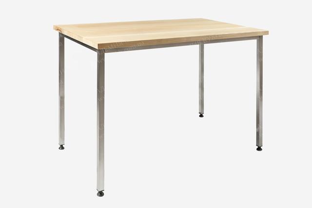 Столы производственные с деревянной столешницей без полки