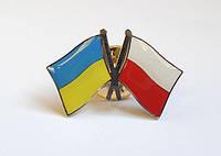 Значок флаг Украины и Польши