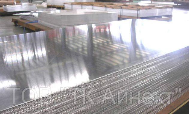 Лист алюминиевый гладкий 3.0х1000х2000 мм марка (1050) аналог АД0