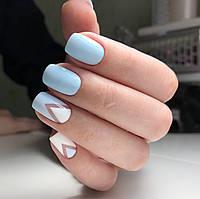 Бледно-голубой гель-лак пудровый 10мл
