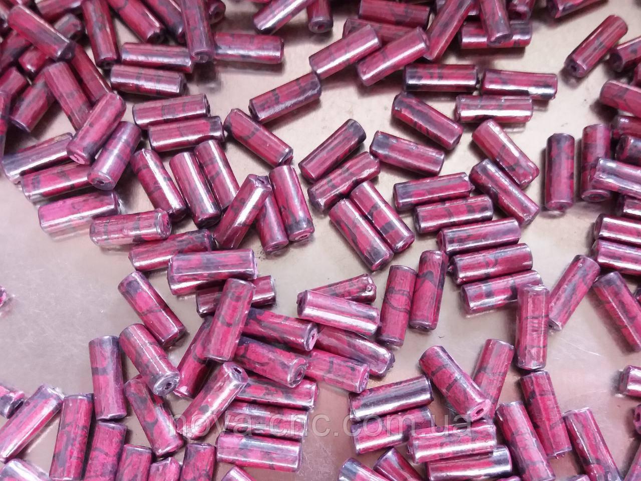 """Бусины пластик """"Рубка"""" темно красный 12 мм 500 грамм"""