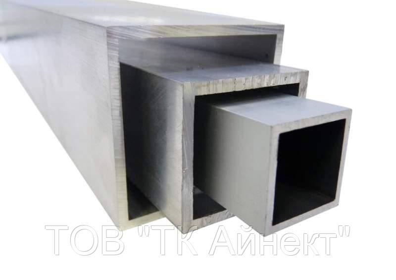 Труб алюминиевая квадратная 55х55х2.2 мм АД31Т5 профильная