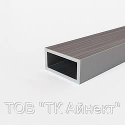 Труба алюминиевая профильная 40х20х2 мм АД31Т5 прямоугольная, анодированная