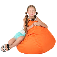 Бескаркасное кресло-мешок Груша, ткань Oxford 600 Den, размер 100х80 (оранжевый)