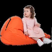 Детское бескаркасное кресло-мешок Груша, ткань Oxford 600 Den, размер 90х60 (оранжевый)