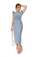Летнее женское платье №1177 (синий)