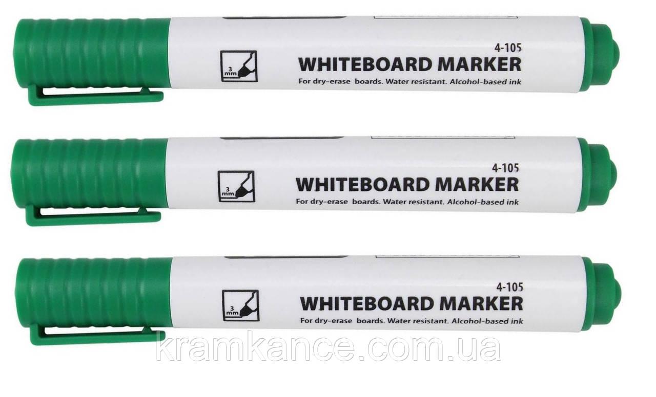 Маркер для доски сухостираемый 4Office 4-105 1-3мм зелен.