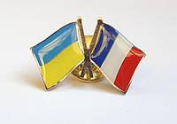Значок флаг Украины и Франции