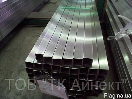 Труба нержавеющая профильная прямоугольная 50х25х2 мм AISI 201 полированная, шлифованная, матовая