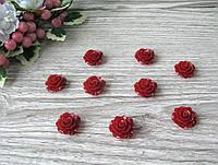 Серединка акриловая - Бордовая роза р-р - 2 см цена 20 грн - 10 шт