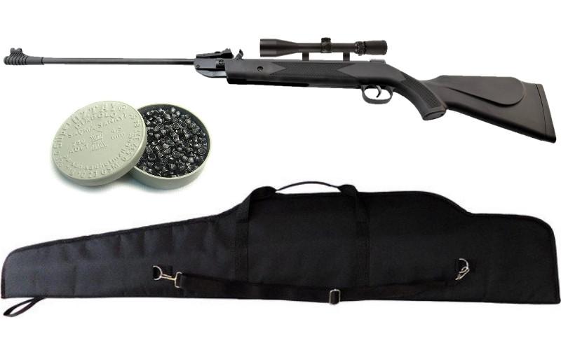 Пневматическая винтовка SPA B1-4Р (B2-4p) + прицел 4х20 + пули  Oztay 0,51 + чехол