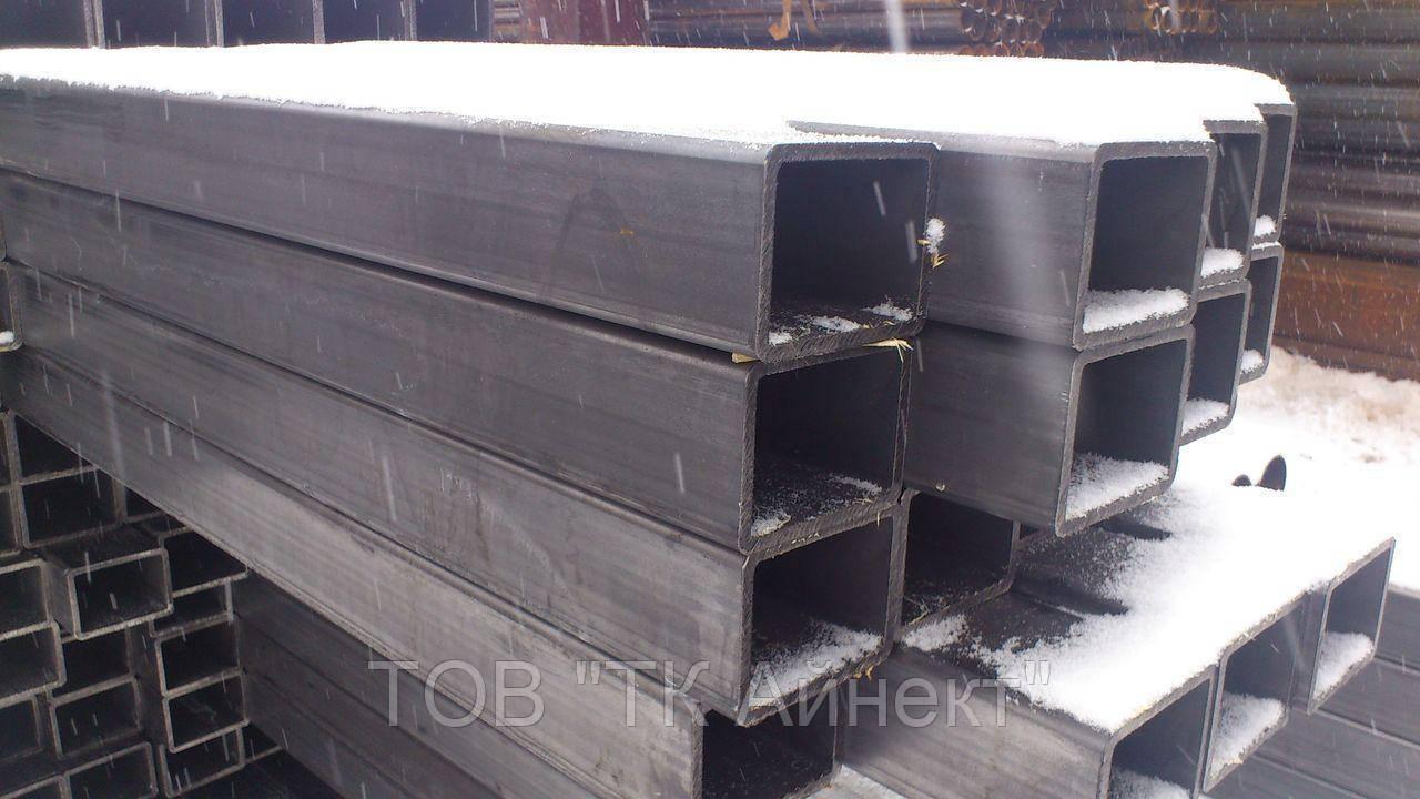 Труба профильная бесшовная сталь ст 20, 140х120х8 мм горячекатанная