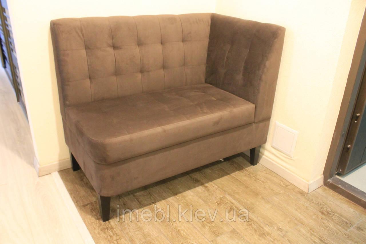 Угловой диванчик в прихожую (Коричневый)