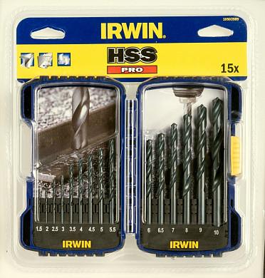 Набор свёрл HSS PRO DRILL SET HSS 15шт IRWIN 10503989 (США)