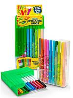 Набор парных фломастеров, 20 шт (10 классических и 10 ароматизированных), Crayola