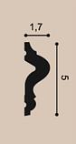 Молдинг для стен, гладкий, Orac Decor Axxen, PX175 лепной декор из дюрополимера, фото 2