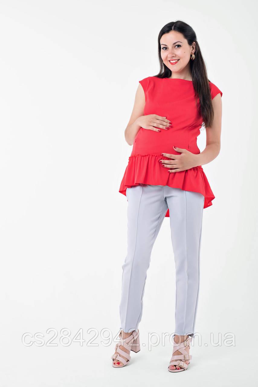 Блуза для вагітних та годуючих (Блуза с рюшей для беременных и кормящих)