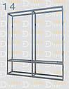 Конструктор (каркас) витрины и прилавки из алюминиевого профиля (2578)1449,2576,2721, фото 7