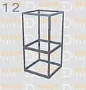 Конструктор (каркас) угловые витрины и прилавки из алюминиевого профиля (2578)1449,2576,2721, фото 3