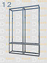 Конструктор (каркас) угловые витрины и прилавки из алюминиевого профиля (2578)1449,2576,2721, фото 4