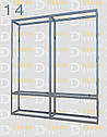 Конструктор (каркас) угловые витрины и прилавки из алюминиевого профиля (2578)1449,2576,2721, фото 5