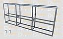 Конструктор (каркас) угловые витрины и прилавки из алюминиевого профиля (2578)1449,2576,2721, фото 6