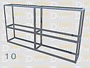 Конструктор (каркас) угловые витрины и прилавки из алюминиевого профиля (2578)1449,2576,2721, фото 7