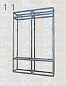 Конструктор (каркас) угловые витрины и прилавки из алюминиевого профиля (2578)1449,2576,2721, фото 8
