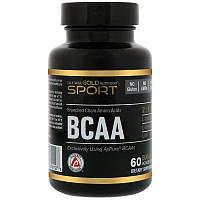 "Аминокислотный комплекс California GOLD Nutrition, SPORT ""BCAA 2:1:1 (AjiPure)"" 500 мг (60 капсул)"