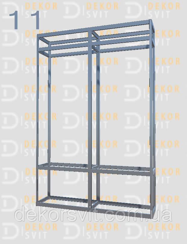 Конструктор (каркас) витрины № 11 из алюминиевого профиля (2578)1449,2576,2721