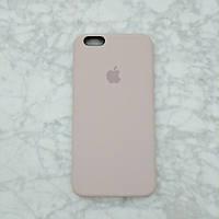 Силиконовый чехол Apple Silicone Case для iPhone 6/6s Soft touch Люкс качество чехлы на айфон розовый песок