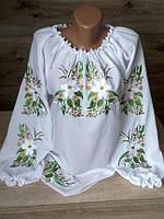 Вышиванка женская с цветочным узором под заказ