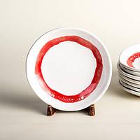 Тарелка мелкая - 15 см, Белая (Ucr Ceramic) Ring