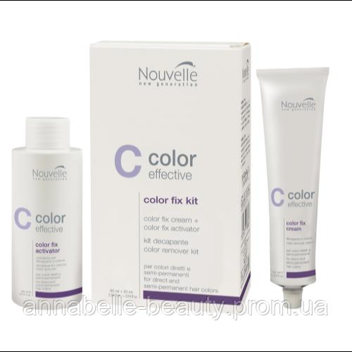 Nouvelle Засіб для видалення підлозі-перманентної фарби з прямих барвників Color Fix Kit 60+90