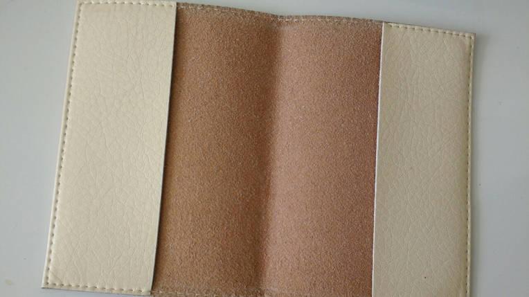 Кожаная женская обложка для паспорта с цветами -Весенняя-, фото 2