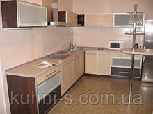 Кухня - фасад алюминий рамочный