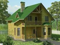 """Строительство  из бруса.""""Лесной замок"""",150 м кв."""
