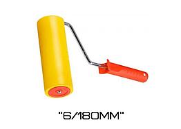 Валик резиновый прижимной с ручкой Polax 6/180мм