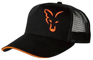 FOX BLACK & ORANGE TRUCKER CAP - КЕПКА ЛЕТНЯЯ