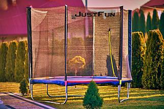 Батут Just Fun 252 см с сеткой и лестницей мультиколор, фото 3