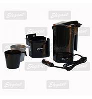 Чайник автомобільний 24V 400 мл Elegant 101531 стійка+2 чашки, фото 1