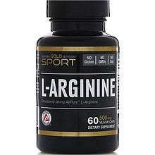 "L-Аргинин California GOLD Nutrition, SPORT ""L-Arginine"" 500 мг (60 капсул)"