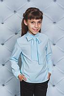 Блуза на дівчинку з бантом ,3 кольори .Р-ри 122-152