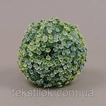 Шар декоративный зелено-белый 13 см.