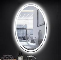 Зеркало со светодиодной подсветкой 25Вт овальное, 80х60см, 3000-4000-6500К