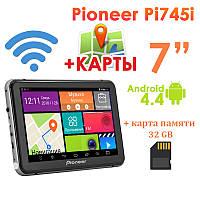 "GPS навигатор Pioneer Pi745i 7"" 8 Ядер  Android 4.4 + Карта памяти 32GB"