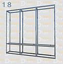 Конструктор (каркас) вітрини та прилавки з алюмінієвого профілю (2578)1449,2576,2721, фото 6