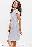 Котоновое платье в мелкую полоску на пуговицах, фото 2